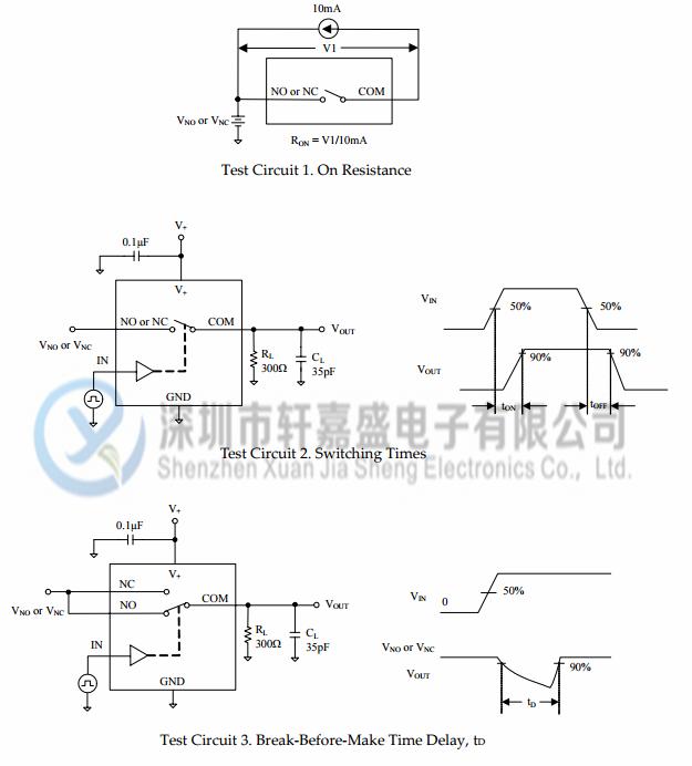 sgm3157yc6/tr的测试电路