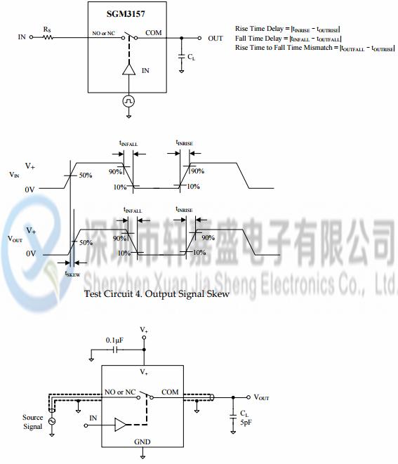 sgm3157yc6/tr的测试电路(续)