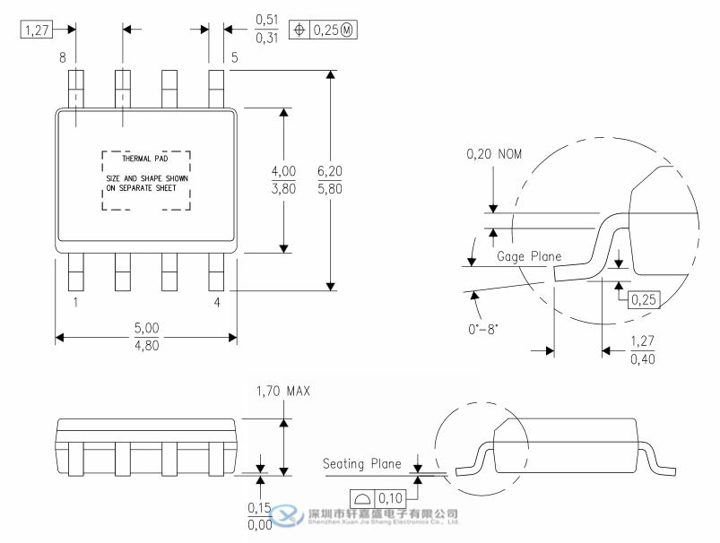 tps54335addar 3a24v soic8 同步降压型dc-dc转换器