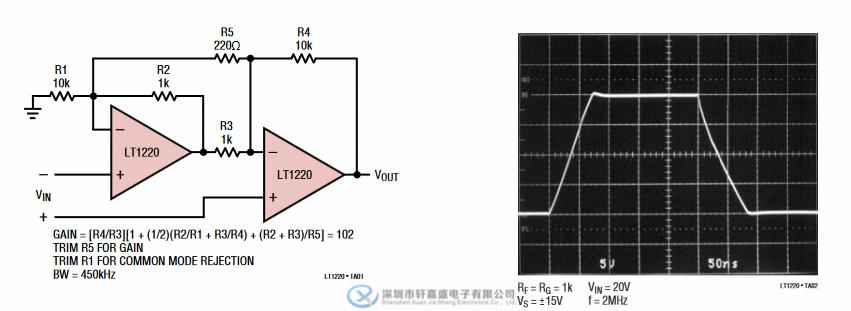 lt1220cs8 45mhz 250v/μs运算放大器 soic8 lt 集成ic
