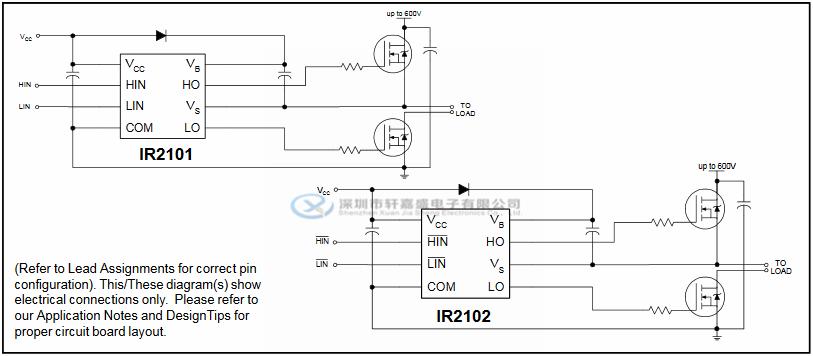 ir2101strpbf 20 v360ma ir整流器 soic-8 高低侧驱动