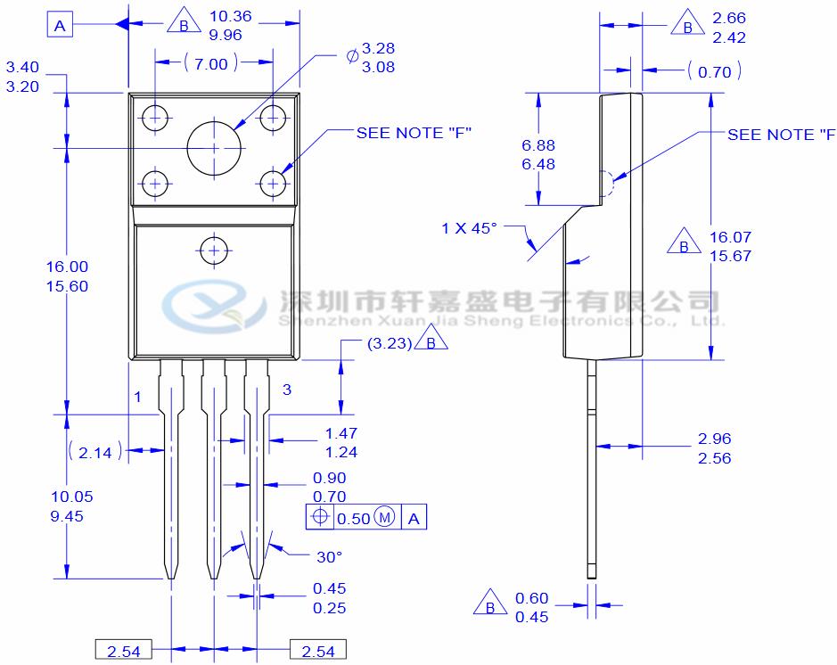 fcpf7n60 仙童代理 to-220f 600v pdf资料 场效应管